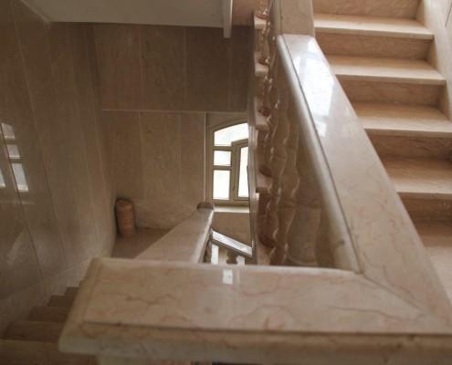 سنگ کاری راه پله ساختمان